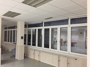 Ventanal de Aluminio en Asociación AFA Bilbao